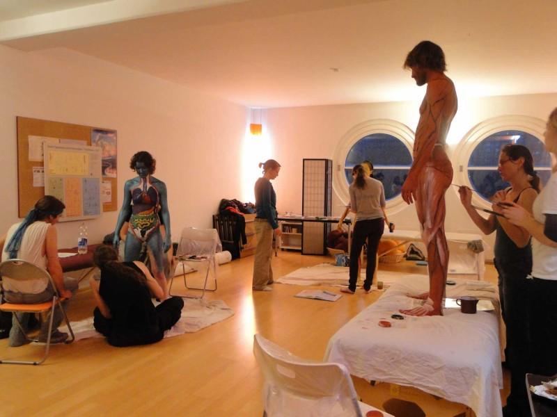 Anatomie-Bodypainting-Workshop 2010 an der Yoni Academy