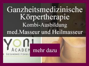 Ausbildung Ganzheitsmedizinische Körpertherapie - med. Masseur und Heilmasseur