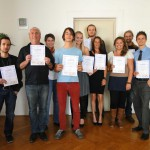Hier sehen Sie die stolzen TeilnehmerInnen beim Abschluss der Heilmasseur Ausbildung 2011-2012