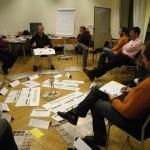 Bilder der internen Weiterbildung der Yoni Referenten zum Thema Lehren und Lernen