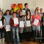 Die glücklichen Teilnehmer der Abschlussfeier Heimasseur 2010 - Yoni Academy Innsbruck